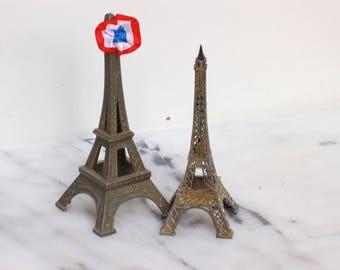 Tour Eiffel en métal, souvenir de Paris, souvenir de le France, frenchvintage, Brocante française
