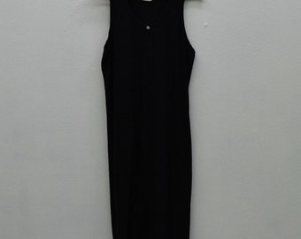 Comme des Garcons Robe de Chambre Comme des Garcons Dress Black Gown Made in Japan Womens Size S/M