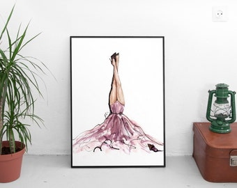 Fashion Wall Art,Fashion Illustration,Fashion Prints,Fashion Poster,Fashion Art,Pink Wall Art,Vogue Wall Art,Vogue Print,Vogue Watercolor