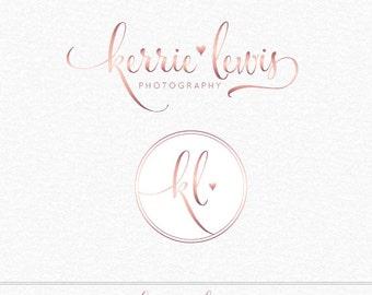 Premade Rose Gold Logo, Photography Logo, Photography Watermark, Makeup Artist Logo, Salon Logo, Elegant Logo Design, Photography Watermark