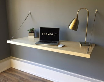 Wall Mounted Floating Desk - Maple