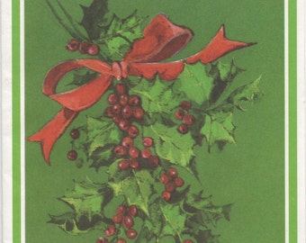 Used Gibson Christmas Card, For My Wife. . . c1980s, good shape