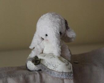 Artist teddy - Elephant Eleonora - Stuffed toys - Handmade teddy - 14 cm (5.5 inches)