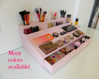 Makeup Organizer   Display With XL Drawer   Many Colors Available    Rangement Maquillage