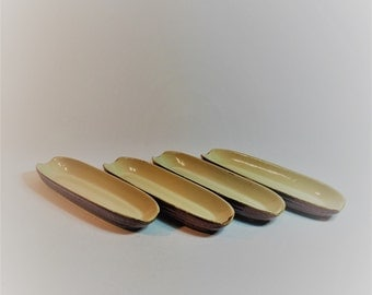 Vintage Brown and Beige Ceramic Corn On The Cob Serving Dishes