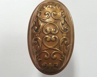 Oval Bronze Decorative Doorknob 530131