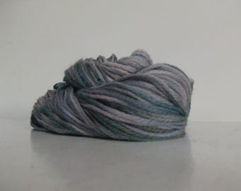 Stash Clearance!! Merino Handspun Wool Yarn, Purples and blues, Worsted #4, 146yds