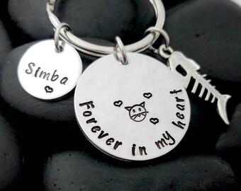 Cat Memorial Keychain - Cat Loss Keychain - Pet Memorial Keychain - Pet Loss Gift - Pet Remembrance Jewelry - In Memory Keychain