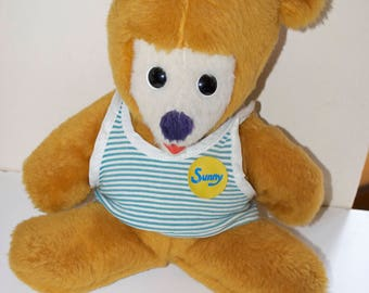 "Sunny the Teddy Bear by Animal Fair for Crocker Bank Stuffed Plush Animal 16"" 1975"