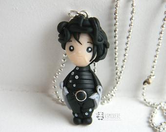 Edward Scissorhands inspired, Edward Scissorhands, necklace, Necklace