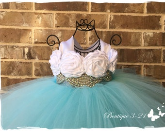 Aqua Blue Tutu Dress, Aqua Blue Flower Girl Dress, Aqua Blue Tulle Dress, Aqua Blue Dress, Aqua Blue Wedding, Aqua Blue, Flower Girl Dress