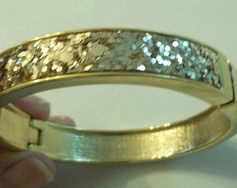 Metallic Gold Bangle.  High fashion.