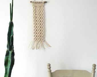 "Macrame Wall Hanging // 12.5' x 21"" // Woven Wall Hanging // Medium Macrame Wall Art // Rope Art // READY TO SHIP"
