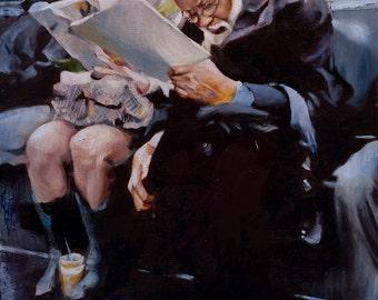 Scrutiny, an original oil painting