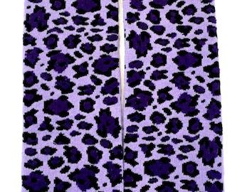 Purple Leopard Leg Warmers