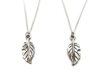 Leaf Necklace Set Leaf Jewelry Nature Necklace Best Friend Gardening Necklace Gardener Jewelry Plant Necklace Plant Jewelry Nature Lovers