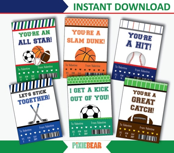 Sports Valentines Valentines Day Cards for Kids Basketball – Sports Valentines Cards
