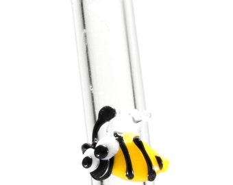 Glass Drinking Straw Bee