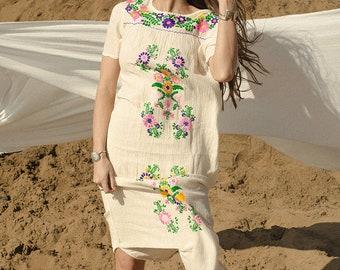Mexican Beach Dress Cream