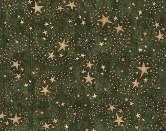 Star Paisley Fabric Fat Quarter, Third Yard, Half Yard or By The Yard; 26004G; Quilting Treasures; Stars & Stripes Forever; Patriotic
