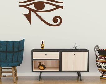 Wall Decal, Eye of Horus, Egyptian Eye, Protection, Symbolism, Wadjet, Eye of Ra, Wall Decal, Wall Sticker, Symbolic Sticker, Egyptian Decal