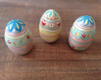 Wooden Easter Eggs, Hand Painted Easter Eggs, Wooden Eggs, Easter Decor, Painted Eggs
