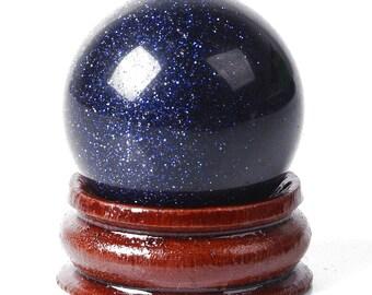 Goldstone Stone Sphere, Blue Goldstone Sphere, Blue Sandstone, Blue Goldstone Ball, Massage Stones, Blue Stone Sphere, Blue Stone Ball,Balls