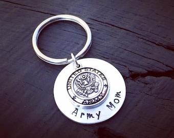 Army Keychain | Army Mom Keychain | Army Dad Keychain | Army Wife Keychain | Army Girlfriend Keychain | United States Army Keychain | USA