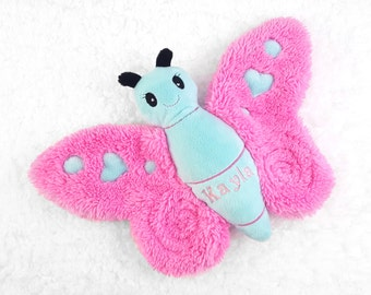 Butterfly Stuffed Animal, Personalized Baby Girl Gifts, Good Gifts for Sister Kid, Gift Ideas for Tweens, Best Friend Having a Baby, Plushie