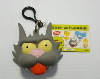 The Simpsons Itchy & Scratchy Coin Purse Keychain New - RARE