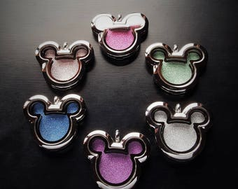 Window Insert for Mickey Floating Lockets-Choose from 14 Colors-Glitter Sparkle Texture-Great Gift Idea