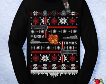 Star Wars Christmas Shirt | Star Wars Christmas Sweater | Ugly Christmas Sweater | Merry Sithmas | The Last Jedi | Mens Womens Unisex Shirts
