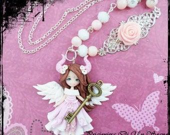 OOAK doll Angel (necklace)