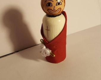 St. Roman Peg Doll