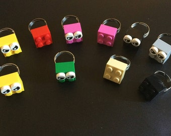 20 Lego Brick Ring, Lego theme party favors