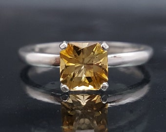 Yellow Engagement Citrine Ring Silver Size 5 6 7 8 9 Sterling Jewelry Custom Barion Promise November Birthstone Birthday Gift for Her R189