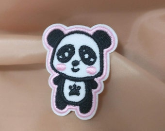 4pcs/lot  baby   panda  embroidered iron on patch  4x5cm