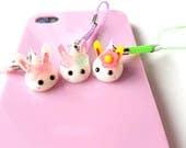 Kawaii Bunnies, Tiny Hoppe Chan Kawaii Phone Charm, Easter Bunny, Cute Animals, Squishy Dust Plug Spring Flowers, Sweet Lolita, Nintendo 3DS