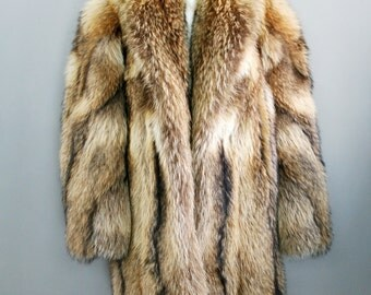 Wolf fur coat – Etsy