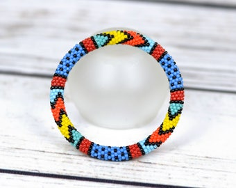 Multicolor bracelet gift|for|her african jewelry handmade bracelet for sister gift for wife birthday gift for bestfriend boho jewelry gift