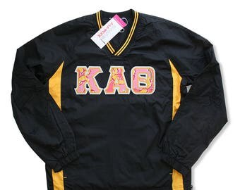 Kappa Alpha Theta Wind Shirt with Appliqued Lilly Pulitzer Fabric Letters