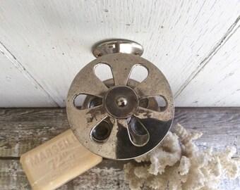 Vintage wall mount toothbrush holder, nickel plated