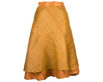 Soft Silk Skirt, Wrap Skirt, Unique Clothing, Travel Skirt, Reversible Skirt, Plus Size Skirt, Silk Wrap Skirt, Silk Skirt