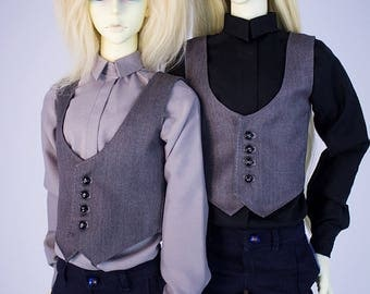 BJD Men's shirt + vest  ( for SD bjd doll, Super Gem)