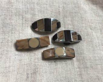 Lot 2 Pairs Vintage Art Deco Shoe Clips Vintage Accessories