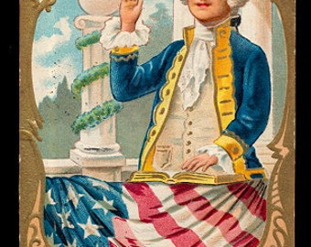 George Washington Patriotic Taking the Oath 1908 Postcard