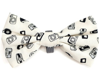 The Clermont Bow Tie — Dog Bowtie, Made in Brooklyn, Bowtied, Camera, Photography, Black, White, Funky