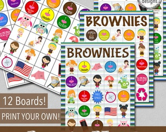 Brownies BINGO Game - Print Your Own!