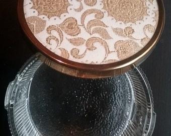 Glass Trinket Box, Mid-Century Glass Box, Glass Jewelry Box, Art Nouveau Glass, Dressing Table Decor, Vanity Decor, Vanity Jar, Powder Jar