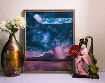 Original Landscape Painting.  Acrylic Painting Oil Painting Canvas Art Surrealism Art Wall Art Home Decor